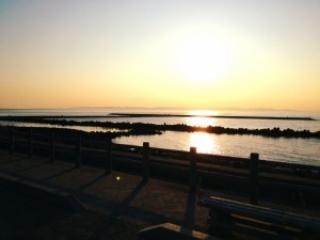 日本海 新潟の夕日
