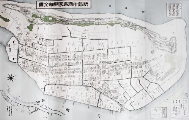 1894年の新潟の街並みを表した地図